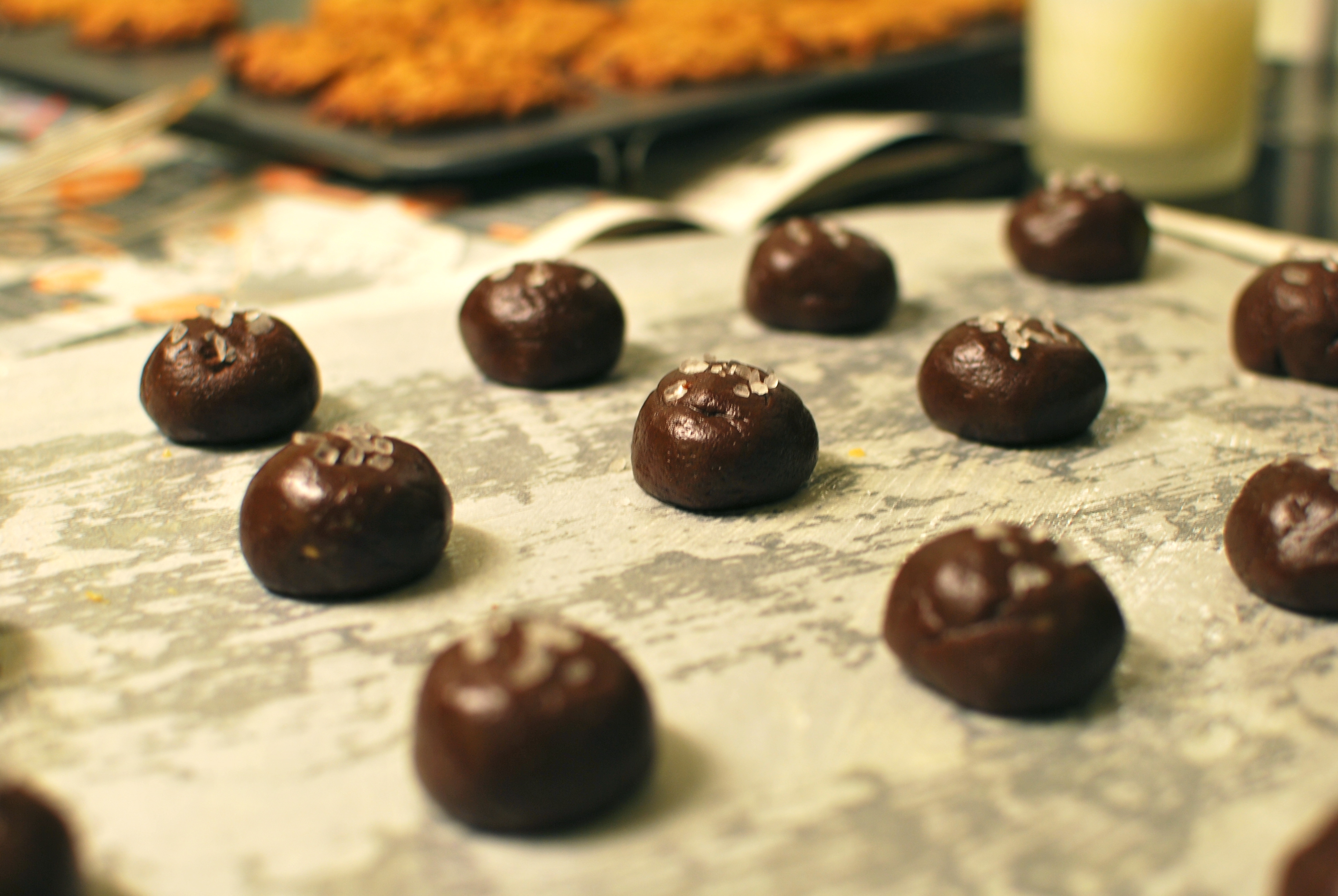 Chocolate Caramel Cookies with Sea Salt | ALMOST ALWAYS HUNGRY