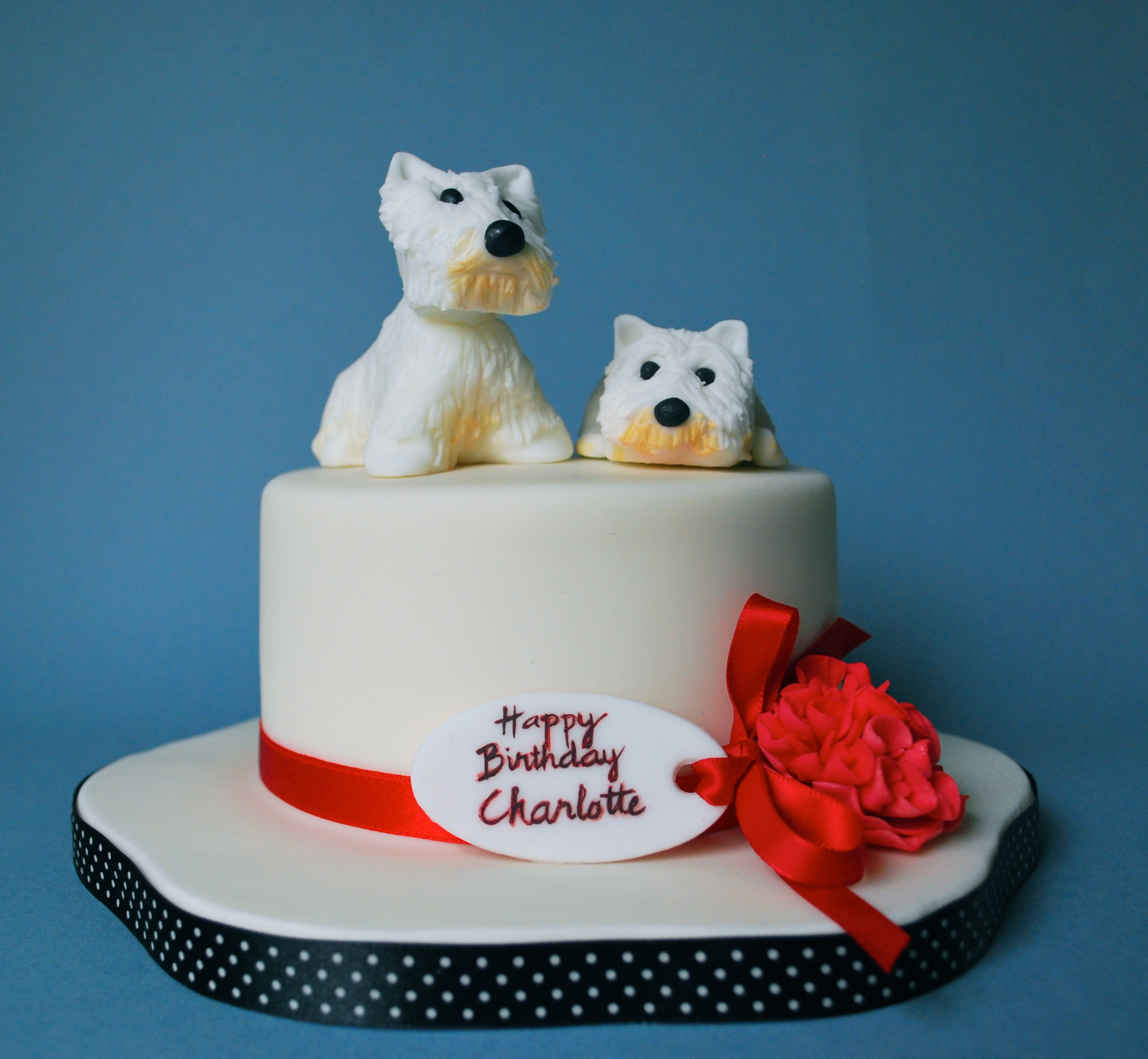 West Highland Terrier Dog Birthday Cake Almost Always Hungry